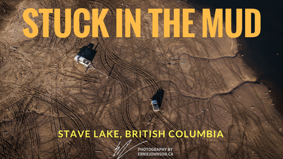 stuck in the mud at stave lake, british columbia