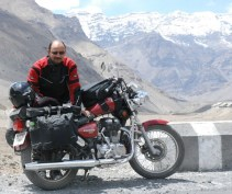 On a solo biking expedition to Kaza in Spiti valley of Himachal Pradesh