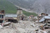 Temple town of Kedarnath after being ravaged by the nature