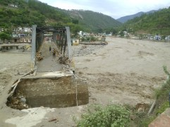 At some places bridges were flown away, while at many other approach to bridge was washed away.