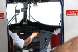 Cockpit of a sea plane will always be so close and you will wonder what to see- pilot's manoeuvring or nature's wonder