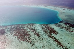 Coral islands in Maldivian sea give new shades and colours to land(sea)scape