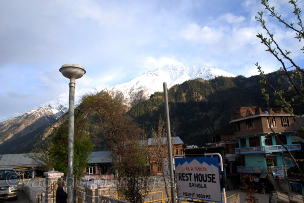 PWD rest house at Sangla and the city