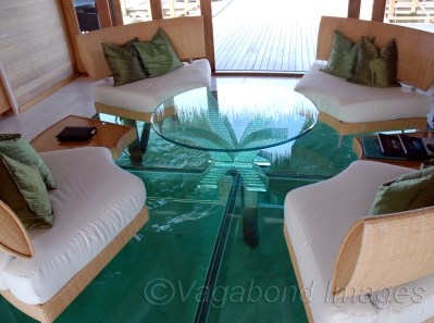 Water under your feet, literally. A sitting space like this can be superb