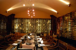 This cellar is also under the water, naturally cooling the exquisite wines
