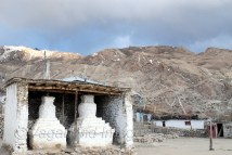 Centuries old Chortens outside the monastery