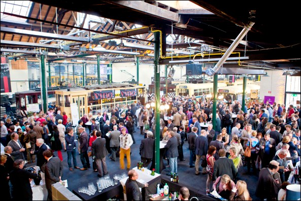 Diners at Tram Museum Photo: (c)VISITBRUSSELS -E.Danhier