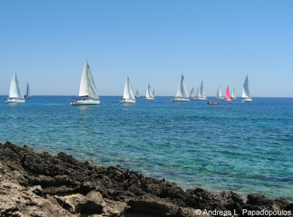 Sailing at Agia Napa