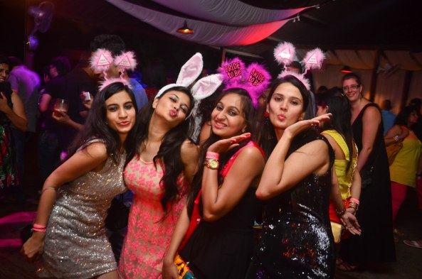 Bachelorette Party at SinQ Beach Club in Candolim, Goa