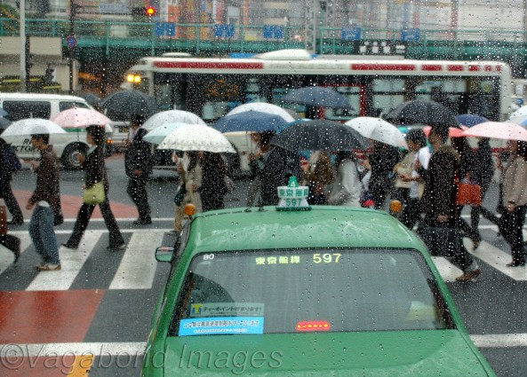 Cabs on Tokyo roads