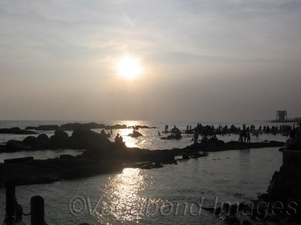 Last sunset of the year at Kanyakumari