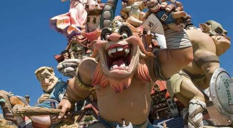 Detail of one of the 'fallas' in Valencia © Turespaña