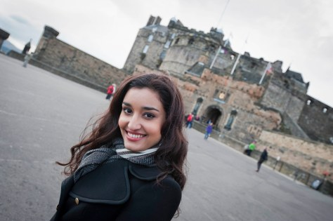Indian model Kanishtha at the edinburgh castle