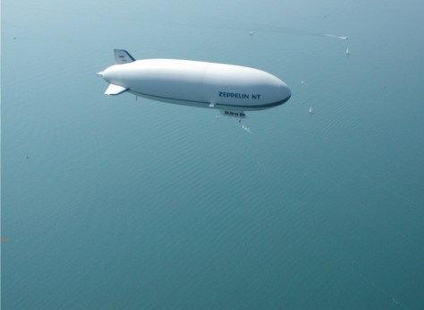 airship floating over lake constance