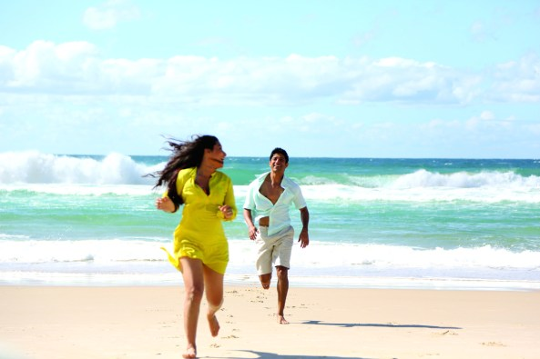Vidya Balan and Farhan Akhtar at Surfer's Paradise at Gold Coast in Australia