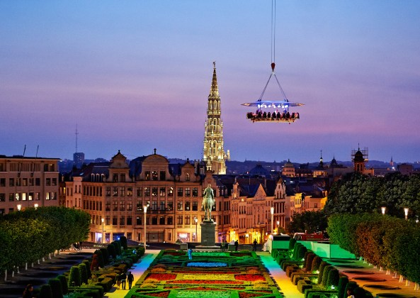 With parks below, Brussels in the sky