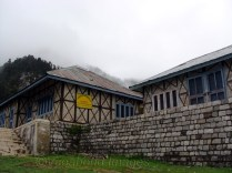 Forest rest house at Triund is a good stay option, except for food and water too (oops!).