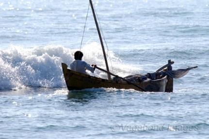 At the sea! A fisherman at Dhanushkodi