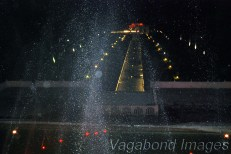 Seems like a runway at the airport