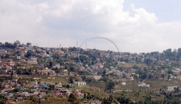 You can see it from hills overlooking Almora