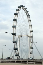 A distant view of Singapore flyer