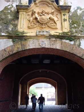 An entrance to fort still reminds the time it was erected - year 1668.