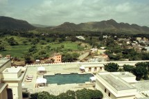Panoramic view from the top of the pool, fort and adjoining areas!