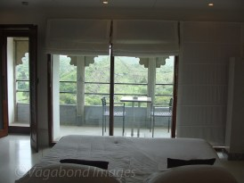 View from the bed in one of suites!