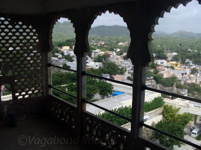 View of fort and Delwara village from terrace!