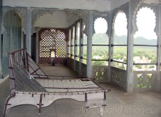 View from upper terrace and a traditional bed!