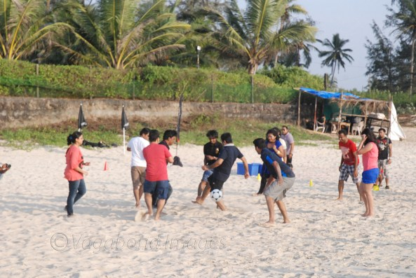 Beach volleyball aka football