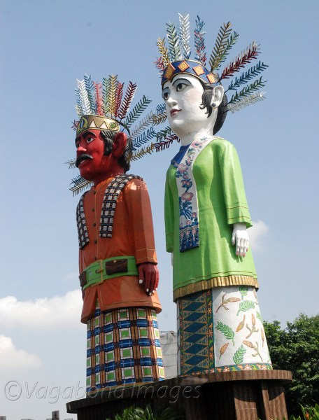 Ondel-ondel puppets from Betawi