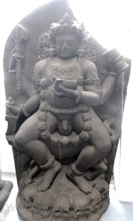 A sculpture of Kal Bhairav