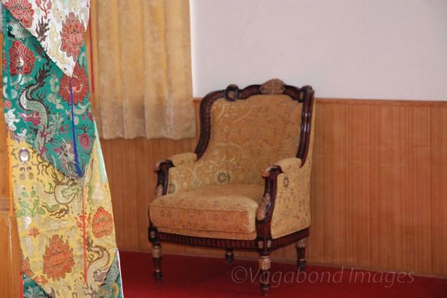 This chair waits for Dalai Lama