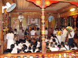 Worshippers at the temple!