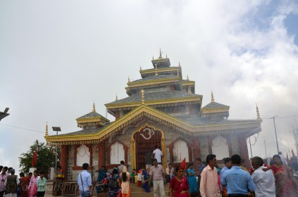 Surkanda Devi Temple at the top