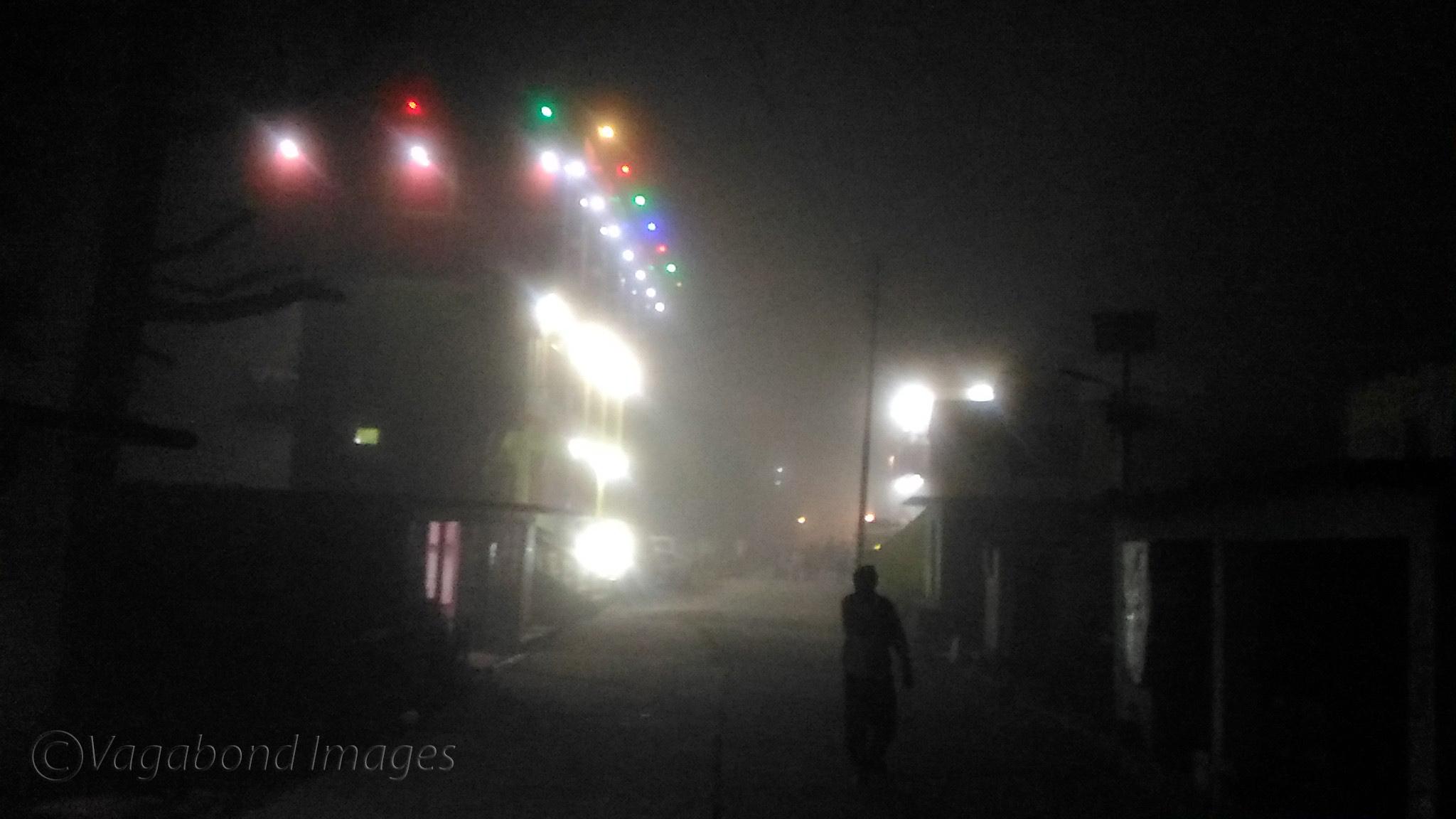 Man in the mist!