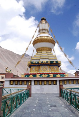 New stupa in the monastery