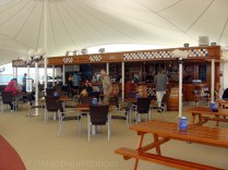 Open deck restaurant