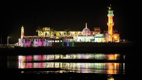 Haji Ali Shrine at night
