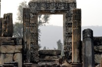 A gate to the now ruined hall of the temple