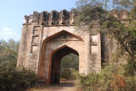 A welcome gate in the jungle, many kms before the actual fort