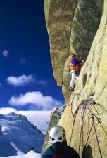 France-Mont Blanc Massif- Voie Rebuffat photo Jean Paul Petit