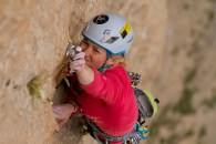 Hazel, L11, 7b+, photo Kris Erickson
