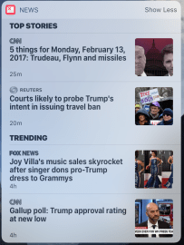 Feb 13 this morning's contribution. Criminal National Security Adviser, historically low approval ratings, but this singer says Trump is A-Okay!