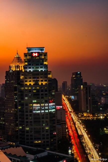 Bangkok Skyline at Sunset