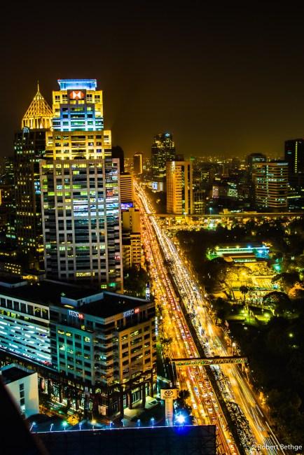 Bangkok Skyline from Sofitel SO at Night