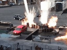 Disney stunt car flight
