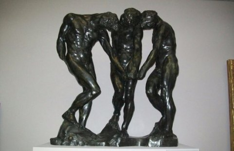 Three Shades by Auguste Rodin