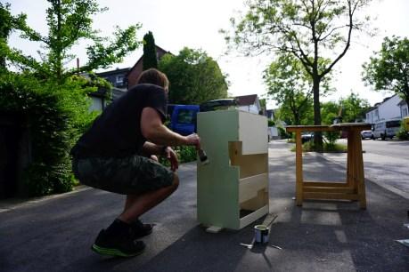 Schränkchen DIY Selbstgebaut im Bulli T3